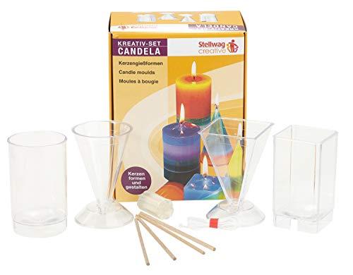 Mixed-Store 502368 102001 Candela Komplettset Kerzengießformen mit Zubehör und Anleitung, Multi