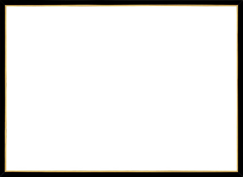 Jigsaw Holzplatte Gold Line Glanz Schwarz (73x102cm)