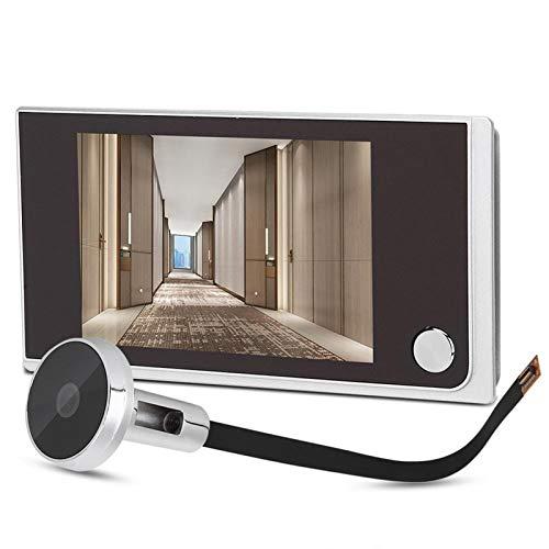 Sbeautli Vídeo del Ojo de Puerta del Timbre de 3,5 Pulgadas de vídeo Digital Mirilla de la Puerta Timbre de la cámara de 120 Grados de ángulo Visor Fácil Instalación