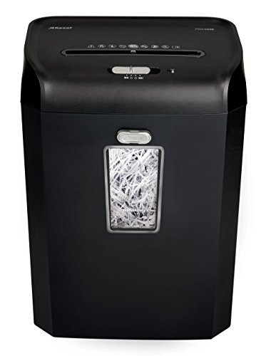 Rexel Promax RSS1535 Aktenvernichter für Kleinbüros, Streifenschnitt, Manueller Einzug, 35L Entnehmbarer Abfallbehälter, 15 Blatt Kapazität,, Schwarz, 2100881A