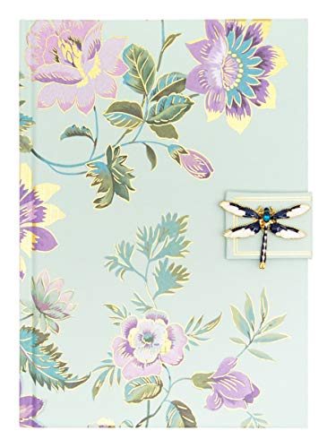 Broche floral de menta, libélula jacobélula broche não removível (44529)