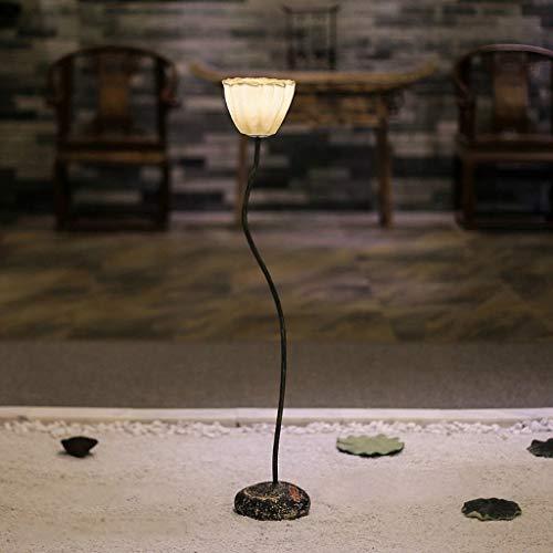 JUNYYANG Led Creative Lotus Vertical Floor Lamps, Bedroom Living Room Simple Modern Landing Floor Light Coffee Table Sofa Decoration Floor Lamp, Eye-Caring Vertical Floor Light