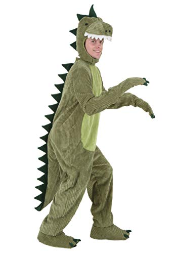 Adult T-Rex Costume Standard Lime