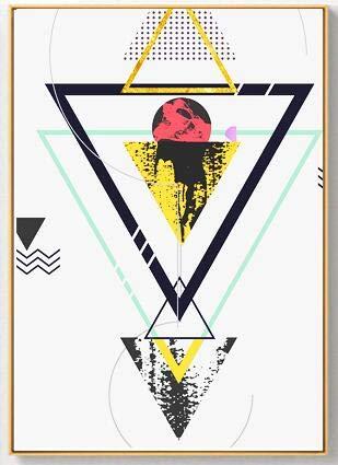 Nordic Platinum gouden abstract geometrisch canvas kunst poster modern schilderij wandschilderij wooncultuur