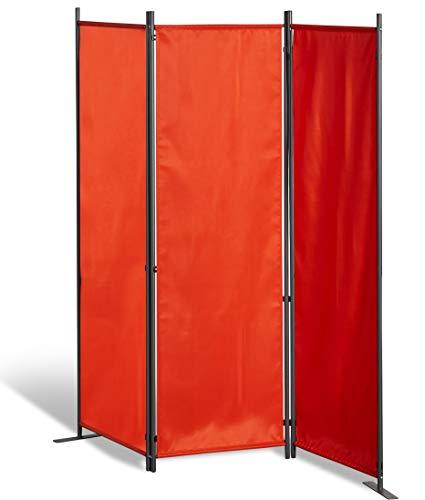 GRASEKAMP Qualität seit 1972 Stellwand 165x170 cm dreiteilig - Terra - Paravent Raumteiler Trennwand Sichtschutz