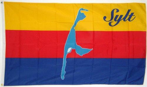 Qualitäts Fahne Flagge Sylt 90 x 150 cm mit verstärktem Hissband