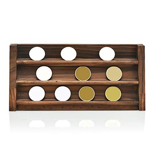 cuffslee muntcassette, ronde muntcapsules met opbergdoos van hout, herdenkingsdrielaags hout, tentoonstellingsstand voor munten, tentoonstelling