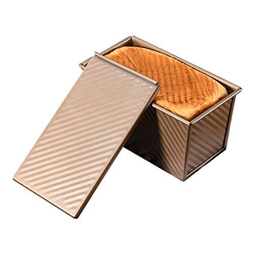 MJL - Molde de pan con tapa para pan, antiadherente, acero al carbono, 4 x 4,5 x 7,9 pulgadas / 10,2 x 11,5 x 20 cm