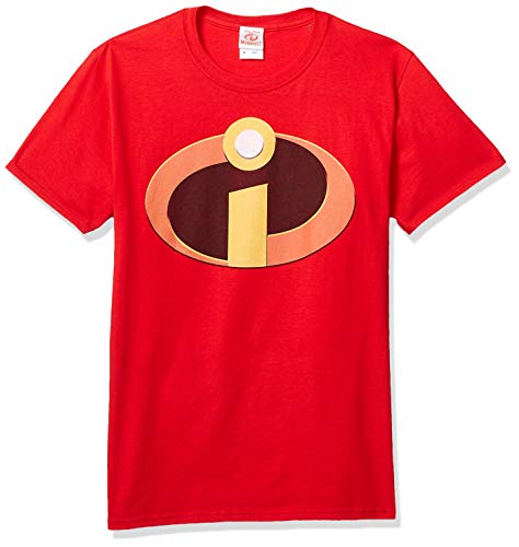Disney Incredible Graphic - Playera para Hombre, Logotipo Rojo/increíble, Large