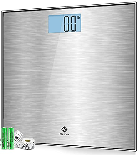 Etekcity Stainless Steel Digital Body Weight Bathroom Scale, Step-On...