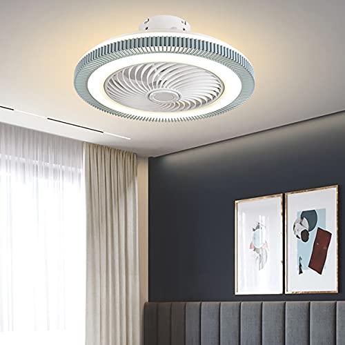 Ventilador Techo Con Luz Para Dormitorio,Ventilador De Techo Con Luz Led Y Mando A Distancia 3 Velocidades Lampara Ventilador Techo Silencioso Regulable Lampara Led Techo Salon