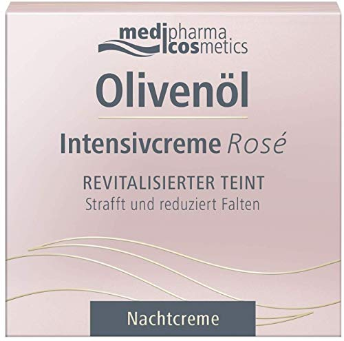 Olivenöl Intensivcreme Rosé Nachtcreme für das Gesicht, 50 m