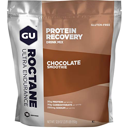 GU ROCTANE Protein Recovery Drink Mix, 915 g / 930 g Beutel (Chocolate Smoothie)