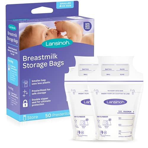 Lansinoh Breastmilk Storage Bags, 50 Count, 4 Ounce