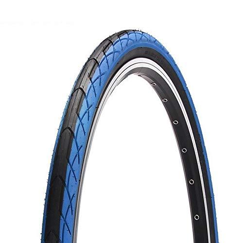 LXRZLS Bike Tires 26 X 1,5 Commuter/Urban/Cruiser/Ibridi Gomme della Bicicletta Bici da Strada Branelli del Legare Pneumatico Slick Bike Pneumatici for Biciclette (Color : Blue)