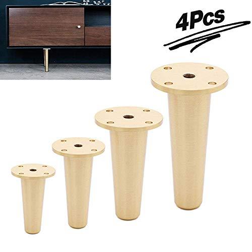3,5 inch/4,7 inch/6 in verstelbare meubelpoten, zuiver messing, zware meubelvoet, reservebank, TV-kast, bed, kegels, 4 stuks