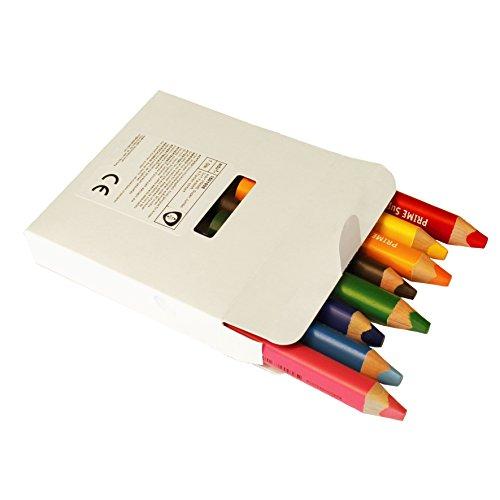 Unbekannt Buntstifte Farbstifte edu³ Prime Super Jumbo Dreikantgriff, 8er Sortiment