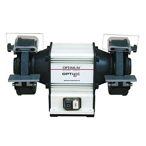 Optimum Doppelschleifmaschine OPTIgrind GU 15, Grob- und Feinschleifscheibe (K36/K60), mit Funkenschutz, 3101505