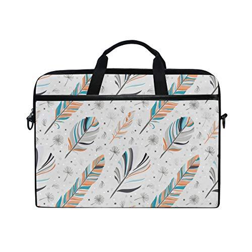 HUAYEXI HandtascheLaptop Feder Hintergrund Retro Muster ethnisches Gekritzel,Umhängetasche Laptop Tasche Handtasche Business Aktentasche