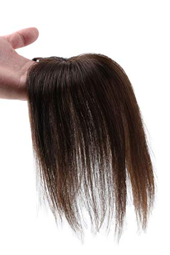 女性 部分ウィッグ 総手植え 人毛100% ヘアピース かつら ウィッグ 部分用 ウィッグ 白髪 ヘアピース ドップピース ウィッグ レディースポイントウィッグ (ナチュラル色#4)