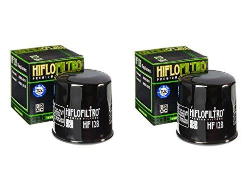 Hiflo Filtro de aceite HF128 para (KAF400 B1, B6F-B9F, BAF-BGF MULE 600 05-16), (KAF620 S9F MULE 4010 Trans 4x4 HD), (KAF400 A1, A6F-A9F, AAF-AFF MULE 610 05-15)