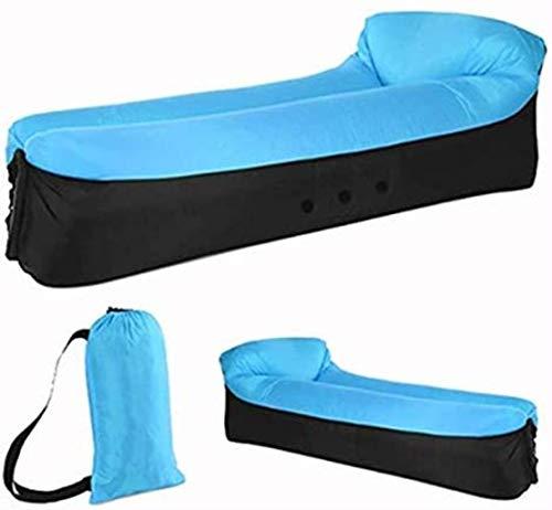 Cama de viaje Viajes Bed adulto agua Tumbona rápido que acampa plegable Saco de dormir impermeable inflable del sofá bolsa de dormir que acampa perezoso bolsas de aire cama 5-26 ( Color : Blue )