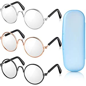 Durable Material - These doll glasses are made of metal wire and plastic clear lens, good accessories for your doll Sizes - Total length is approx. 8cm / 3.14inch, and the frame is approx. 3cm / 1.18inch diameter Pretend Play - Allows little girls to...