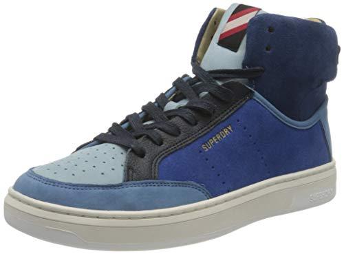 Superdry Premium Basket Lux Trainer, Zapatillas Mujer, Navy Colour Block, 37 EU