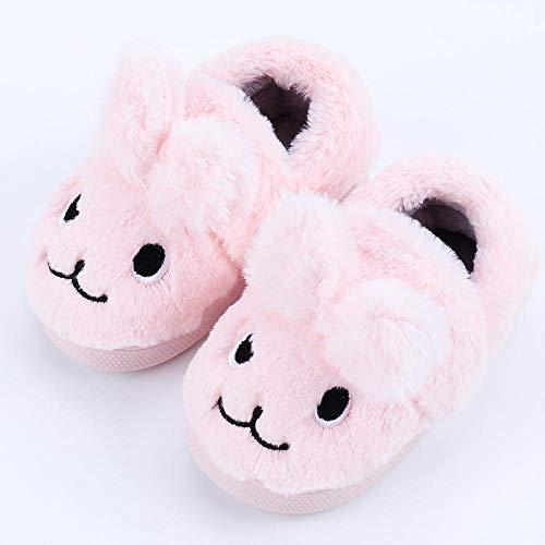 Flip Flop-GQ lammfell Hausschuhe Herren,Warme Kinderpantoffeln Winterbaumwollpantoffeln Süße Kinder halten warmes Jungen- und Mädchenhaar. Weich, warm. Bequem