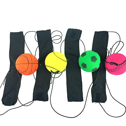 Review Of NOLOGO Xiaoxian Wrist Training Bouncy Ball Rubber Elastic String Rebound Ball Finger Exerc...
