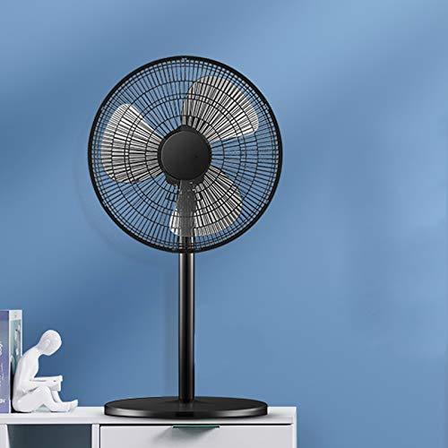 Ventilador eléctrico de altura ajustable de 50 W, ventilador de piso, hogar, vertical, potente, silencioso, ahorro de energía, gran angular, cabeza agitadora, ventilador de escritorio, 3 velocidades