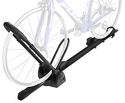 Venzo Car Roof Bike Bicycle Carrier Rack Clamp on Tire Max 15kg or 35 lbs with Lock, No Need to take Front Wheel Off