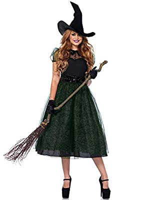 Leg Avenue Women's Classic Darling Spellcaster Witch Halloween Costume