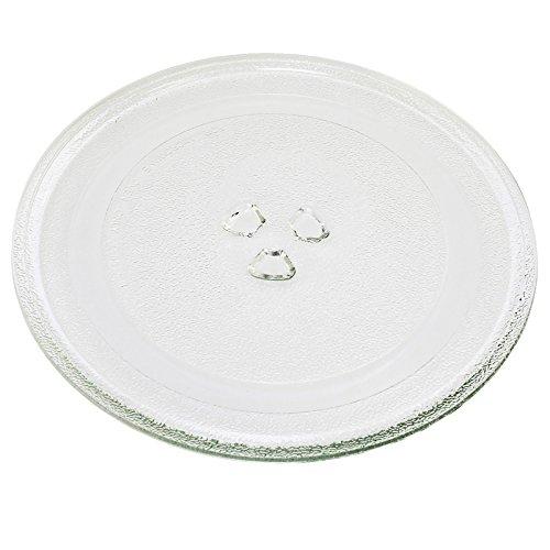 First4Spares Placa giratoria de cristal de repuesto universal para hornos de microondas, 245 mm