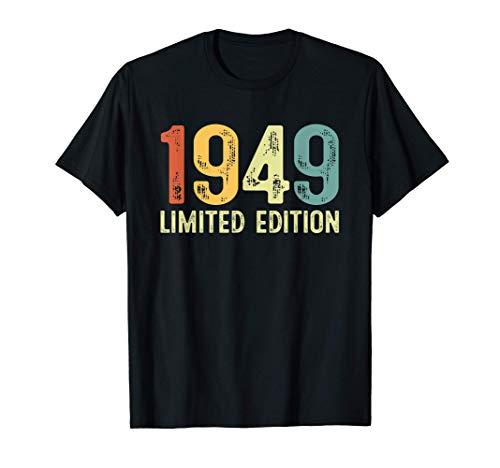 Vintage 1949 72 Anni Compleanno Uomo Donna Regalo Divertente Maglietta