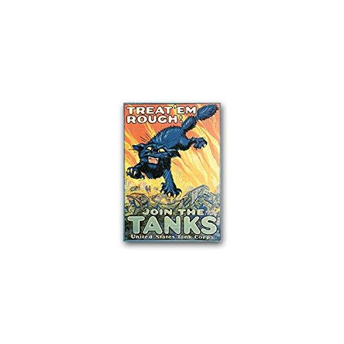 Sticker/Sticker -US Tank Corps soldaten Amerika Wk reclame affiche Propaganda Militair Panzer Korps US Army Poster 5x7cm #A2411