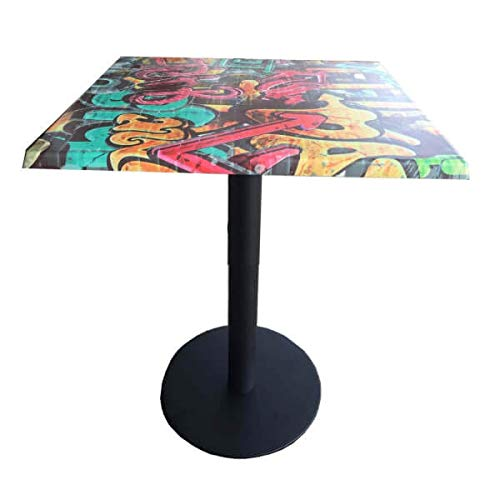 MATHI DESIGN Graffiti - Table carrée Multicolore