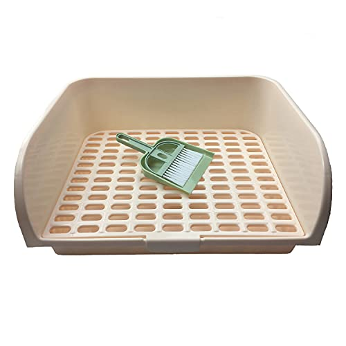 Ali York Large Rabbit Litter Box, Square Potty Trainer Corner Litter Box Used for Guinea Pigs,...