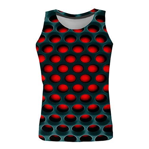 Sylar Chaleco para Hombre 3D Impreso Coloreado Camisetas Hombre Originales Sin Mangas Camisetas Tirantes Hombre Personalidad Casual Camisas
