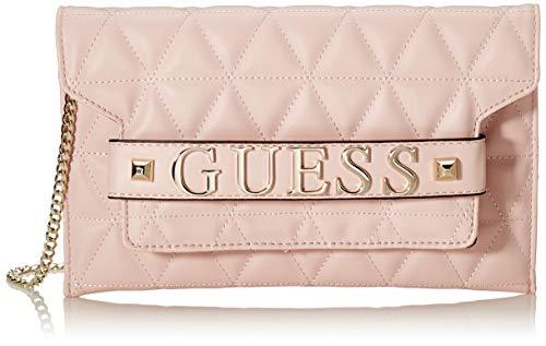 Guess Laiken Mini Crossbody Clutch, Bolsa de mensajero para Mujer, Rosa (Blush), 1x15x25.5 centimeters (W x H x L) (Zapatos)