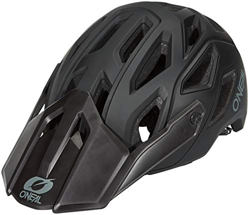 O'Neal Pike 2.0 IPX Helmet Solid Black/Gray L/XL (58-61cm), Casco Moto MX-Motocross. Unisex-Adulto, Nero/Grigio