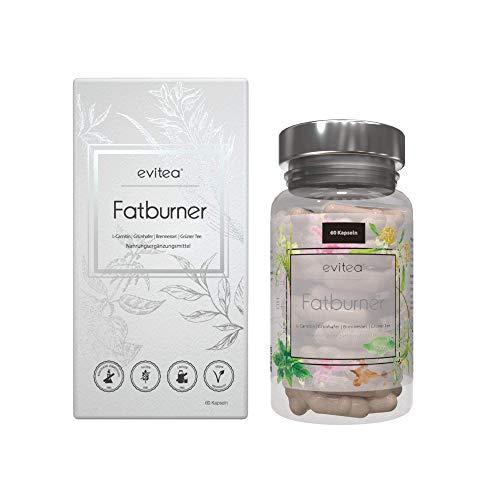 evitea® Fatburner - Stoffwechsel Komplex Kapseln Für Frauen und Männer mit Grüner Kaffee Extrakt, Grüner Tee Extrakt,Vegan, 60Stück
