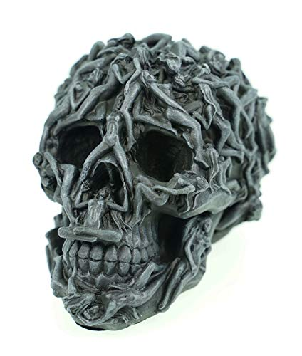 Vogler 766-7194 Totenschädel mit nackten Frauen Totenkopf Schädel Figur