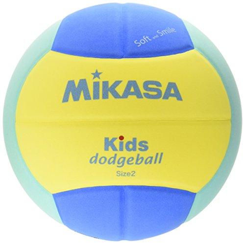 ミカサ ドッジボール スマイルドッジボール2号 イエロー/ライトグリーン 軽量約160g 小学校/キッズ用 SD20-YLG