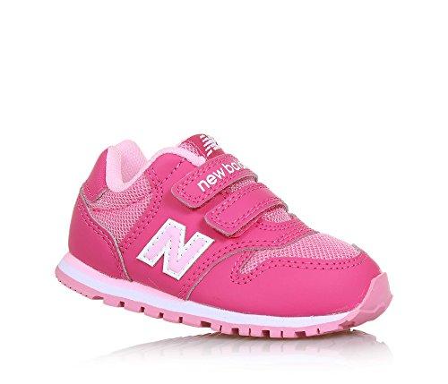 NEW BALANCE - Zapatilla deportiva 500 infant fucsia y rosa, de tejido sintético y microfibra, con cierre de velcro, logo lateral trasero, Niña, Niñas-20