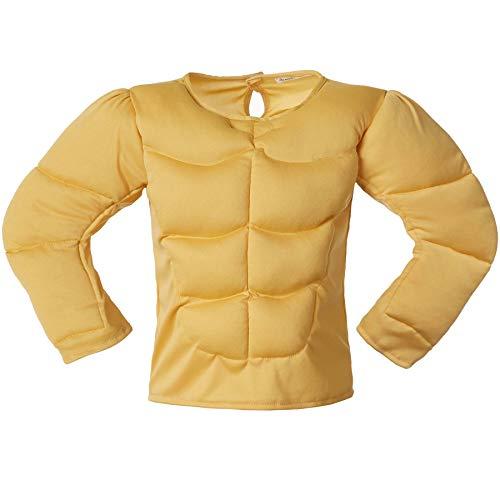 dressforfun 900997 Kinder Muskel Shirt, Bodybuilder Muskelhemd Kostüm - Diverse Größen - (104 | Nr. 304000)