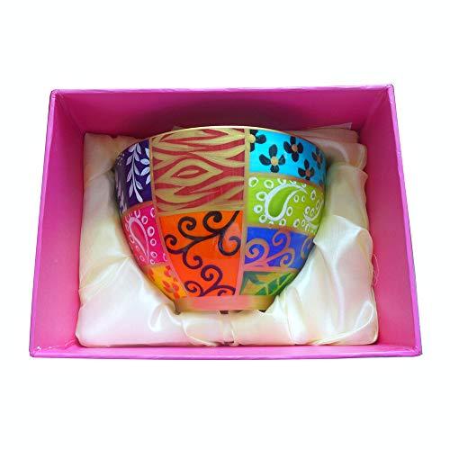 Magnifique bol 'Happy' en fine porcelaine anglaise, peint a la main