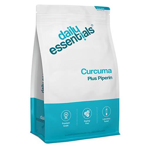 Curcuma + Piperin - 500 Kapseln - 4800 mg Kurkuma & schwarzer Pfeffer je Tagesdosis - 5% Curcumin - Laborgeprüft, ohne Magnesiumstearat, hochdosiert, vegan und hergestellt in Deutschland