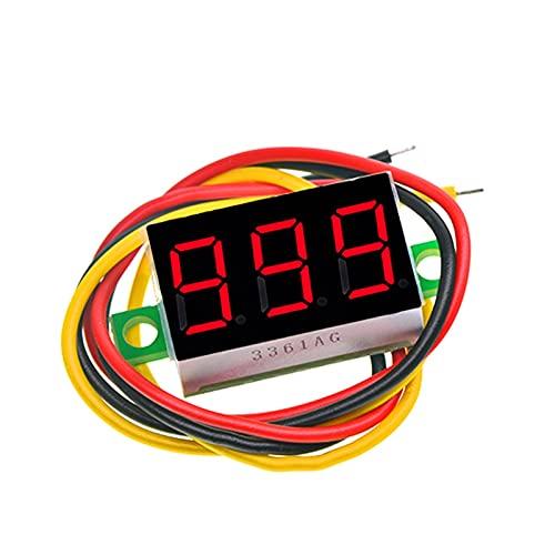 MCYAW 0,36 Zoll 0,36'Digital Voltmeter rot grün blau DC 0V-100V 3 Zeilen 3-stellige Spannungs-Panel-Zähler-Anzeige LED-Farbe für Arduino (Color : Red)