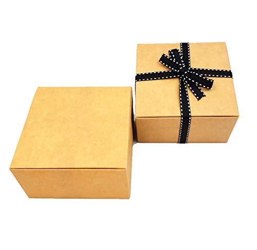 Confezione da 10 x Auto Montaggio Pacco Regalo (Codice#B) Cartone Piatto confezione auto montaggio Pacco regalo per Cioccolatini, Gioiello, Piccolo Regali